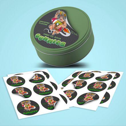 vinyl circle stickers